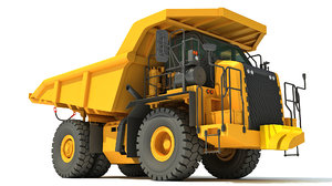 3D off-highway mining dump truck model