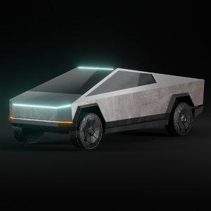 tesla cyber truck wheel 3D model