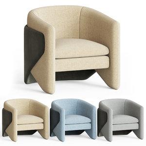 3D thea chair west elm