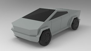 3D tesla cybertruck - automobile model
