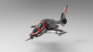 3D helicopter - scifi spaceship
