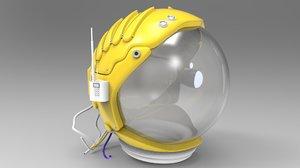 mercury astronaut space helmet model