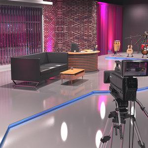 3D talk studio model