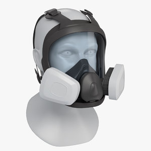 face reusable respirator double 3D model