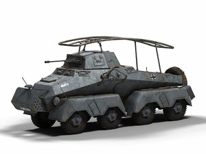 armoured sd kfz 3D model
