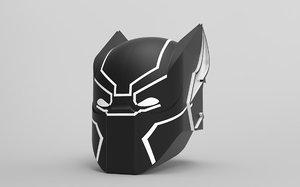 3D black panther mask