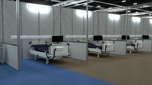 nhs nightingale hospital london 3D