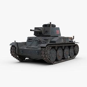 3d model ww2 german panzer 38