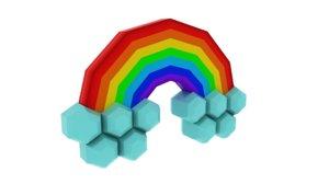 rainbow sky 3D model