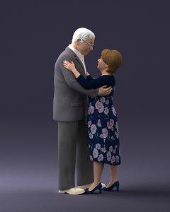 3D elderly elder