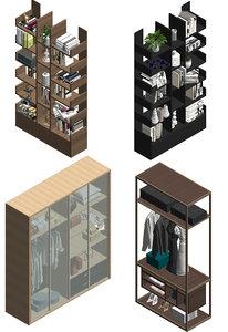 revit cabinet set 1 3D model