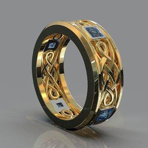 3D bicolor ring