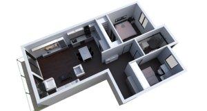 3D apartment 2 model