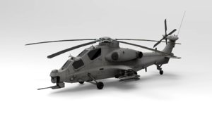 3D apache attack helicopter