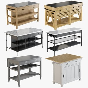 realistic kitchen island 1 model
