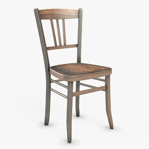 3D luterma wooden chair model