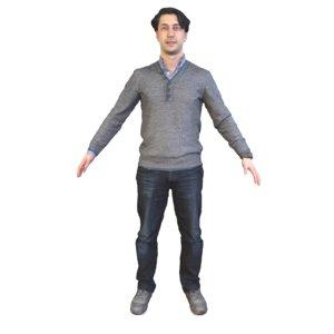 guy t pose model