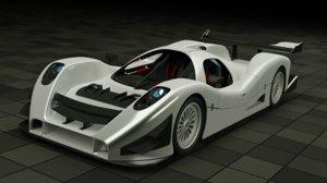 3D e-lmp concept racing car model
