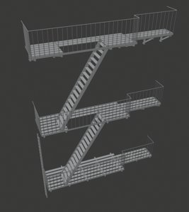 new york escape stairs model