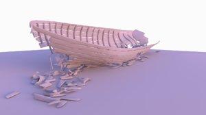 3D ship wreckage
