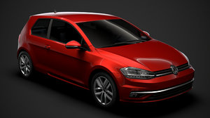 3D golf tdi 3door typ5g model