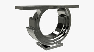 3D model mirrored console table