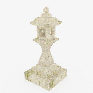 3D japanese stone lantern - model