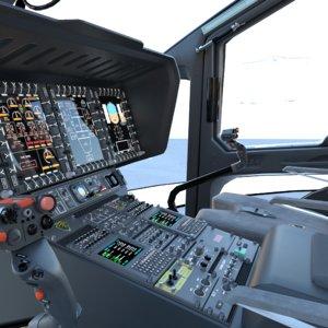 3D realistic airbus h160 interior
