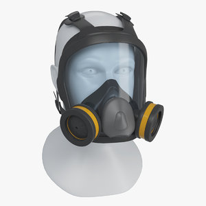 3D face reusable respirator double model