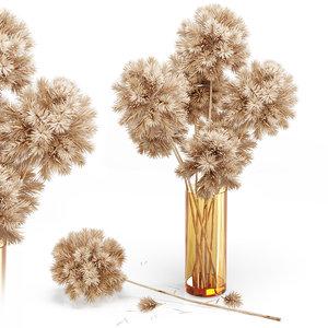 3D decor set 10 flowers model