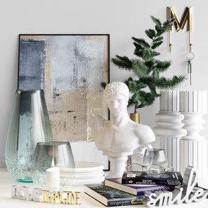 3D bust vase candle