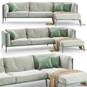 novamobili kubi sofa chaise model