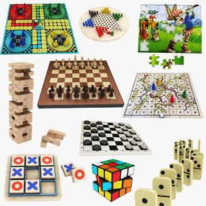 kids board games 10 3D model