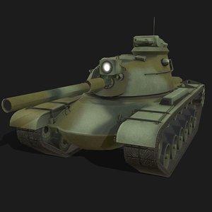 3D model m48 patton tank