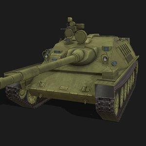 asu-85 vehicle artillery 3D model