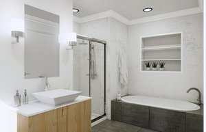 bathroom revit model
