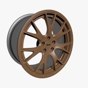 wheel rim vehicle 3D
