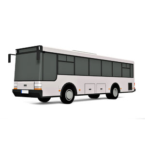 cartoon city bus 3D model