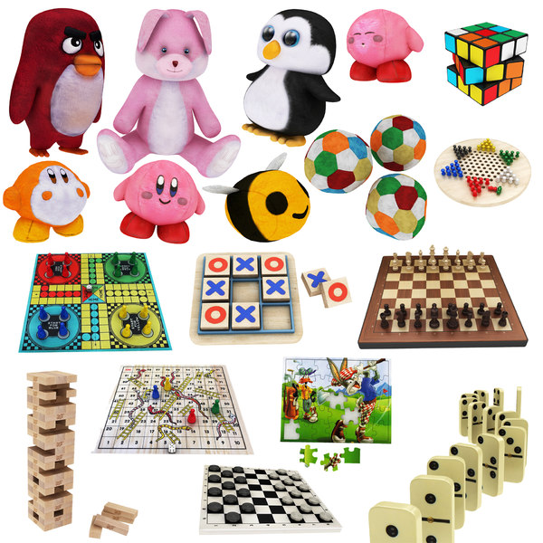 3D kids toy board games model
