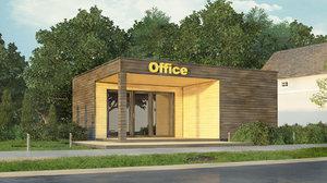 3D modular office scene