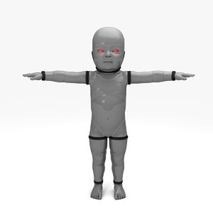 devil cyber baby 3D model