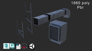 3D airconditioner model