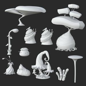 3D - fantasy plants 10
