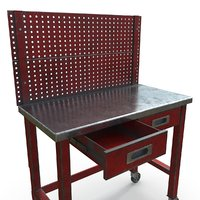 Workbench table With PegBoard PBR