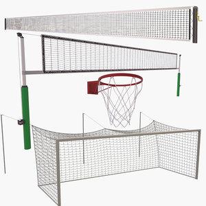 3D model sports nets tennis
