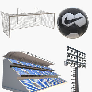 soccer equipment ball light 3D model