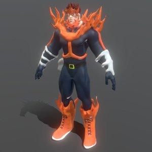 anime boku hero 3D model