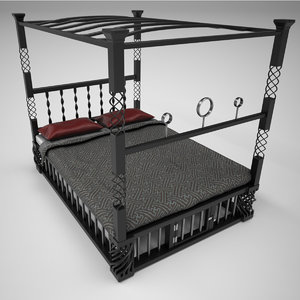 3D wrought iron canopy poster model
