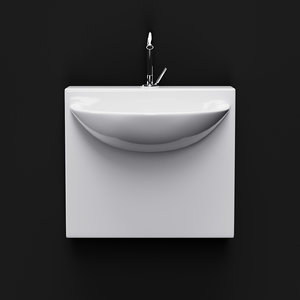 3D artceram washbasin mini wall