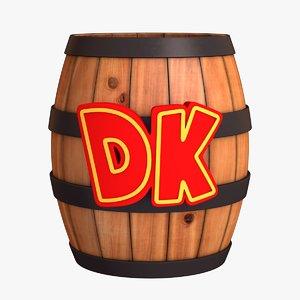 3D dk barrel - donkey kong